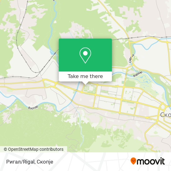 Ригал/Rigal map