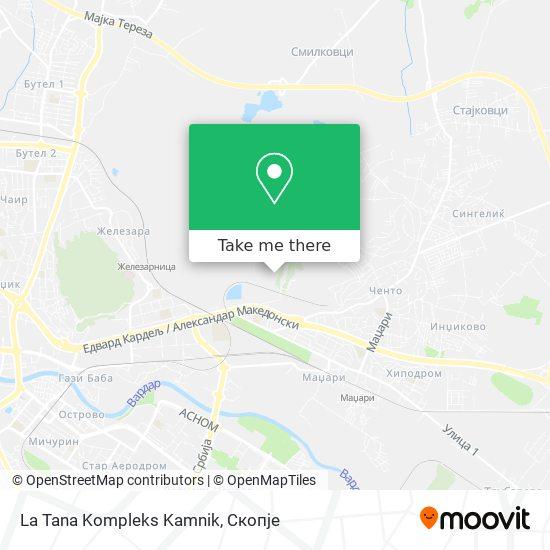 La Tana Kompleks Kamnik map