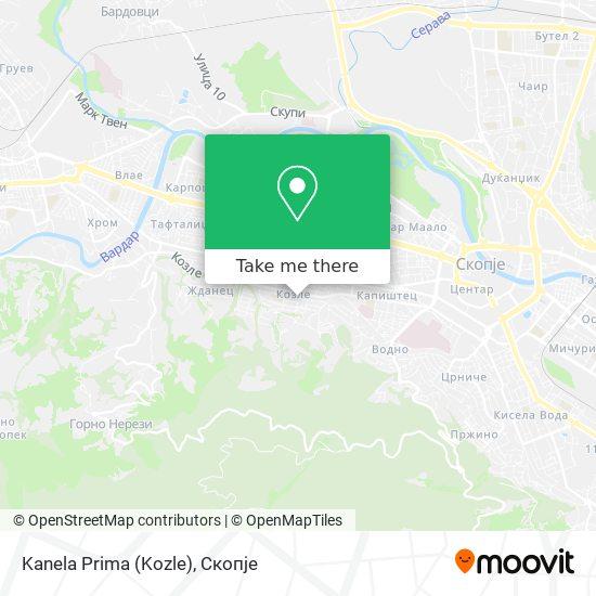 Kanela Prima (Kozle) map