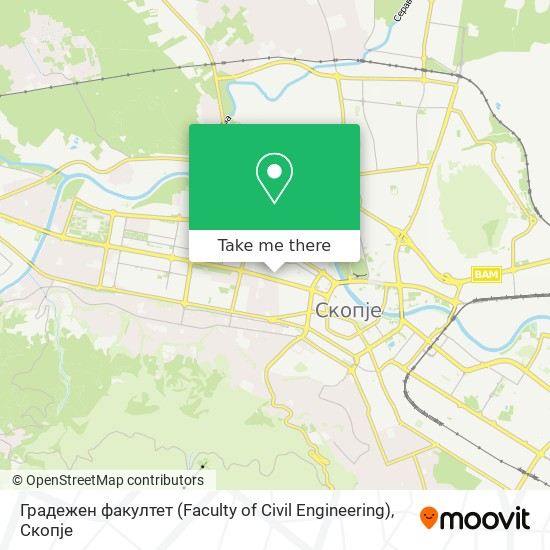 Градежен факултет (Faculty of Civil Еngineering) map