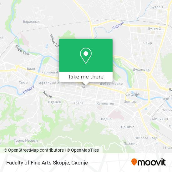 Faculty of Fine Arts Skopje map