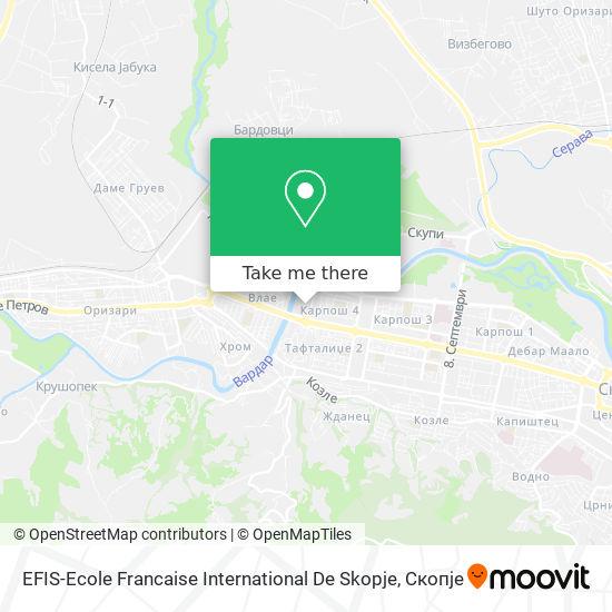 EFIS-Ecole Francaise International De Skopje map