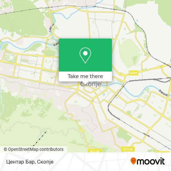 Центар Бар map