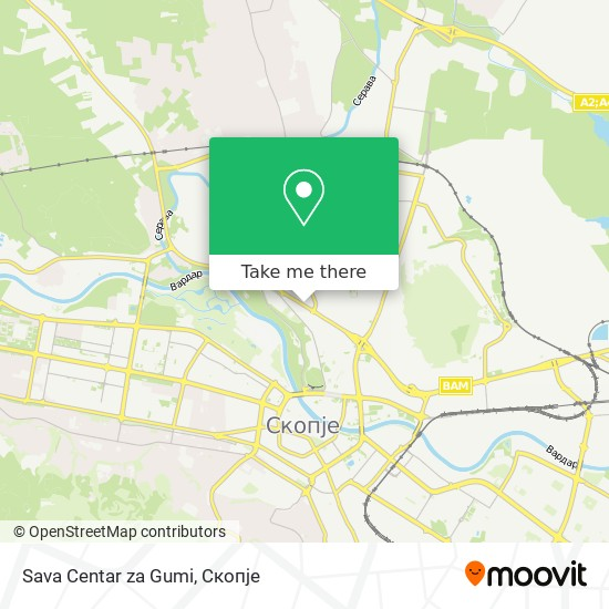 Sava Centar za Gumi map