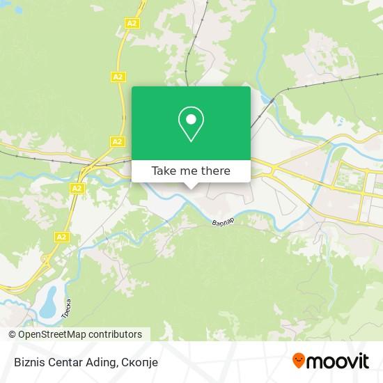 Biznis Centar Ading map