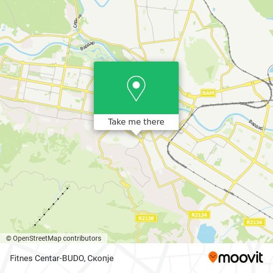 Fitnes Centar-BUDO map