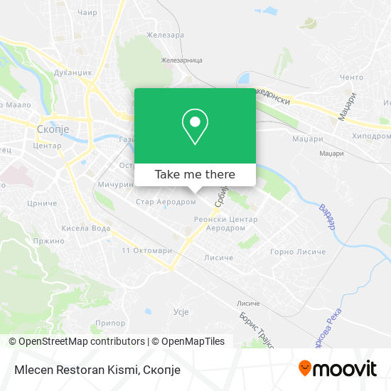 Mlecen Restoran Kismi map