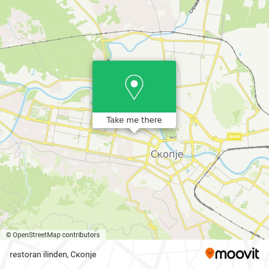 restoran ilinden map