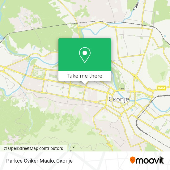 Parkce Cviker Maalo map