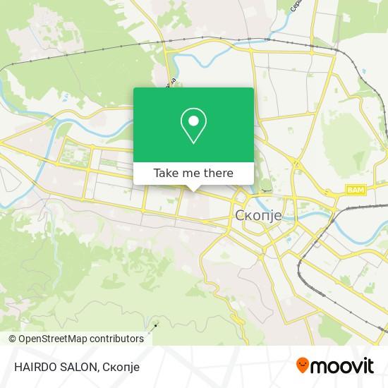 HAIRDO SALON map