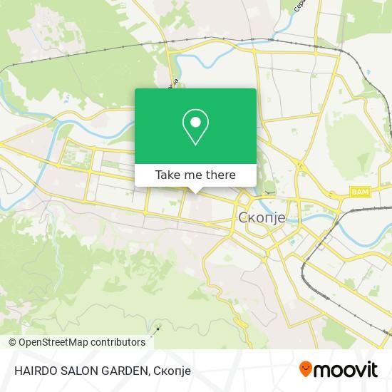 HAIRDO SALON GARDEN map