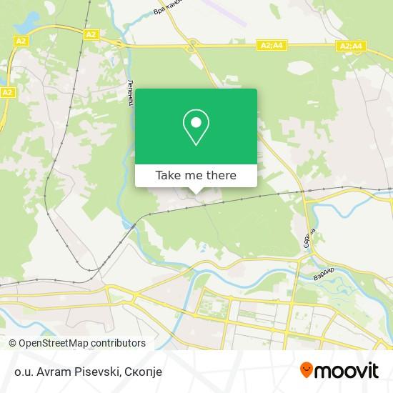 o.u. Avram Pisevski map