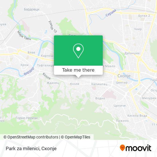Park za milenici map