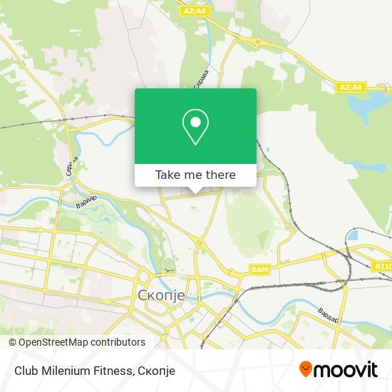 Club Milenium Fitness map