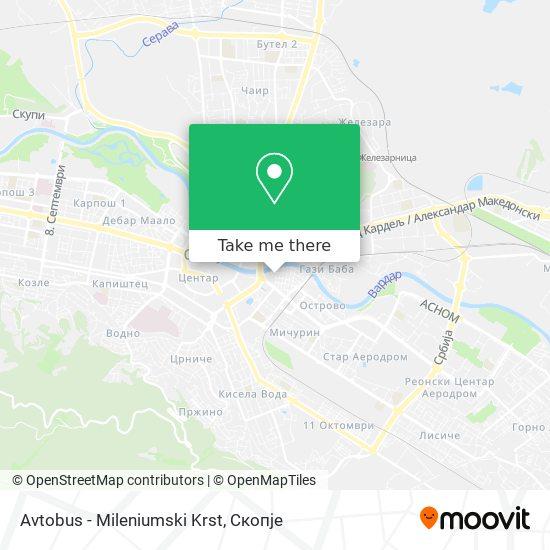 Avtobus - Mileniumski Krst map