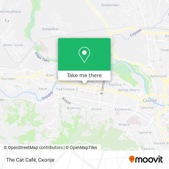 The Cat Café map