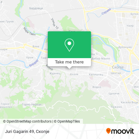 Juri Gagarin 49 map