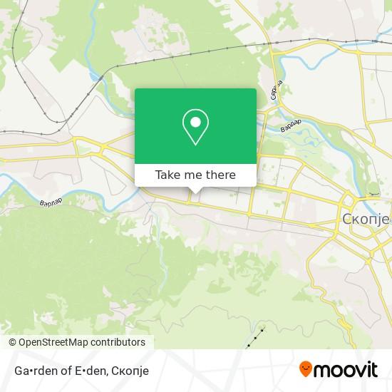 Ga•rden of E•den map