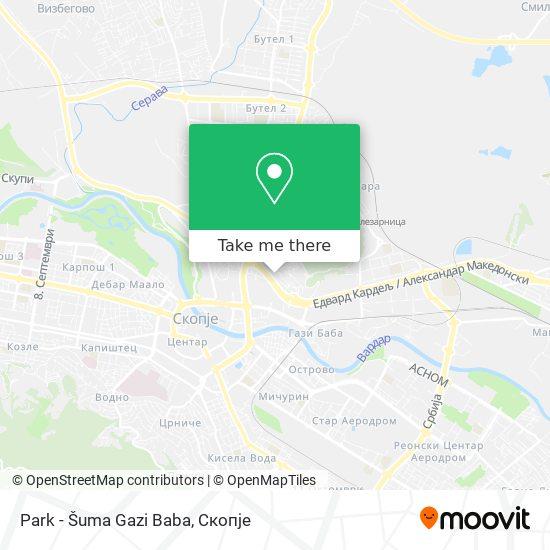 Park - Šuma Gazi Baba map