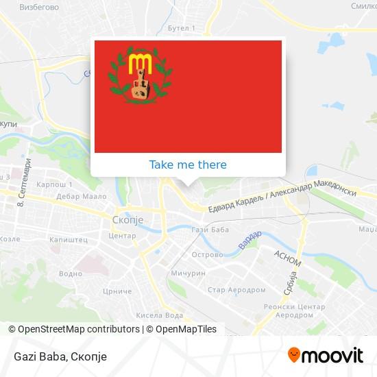 Gazi Baba map