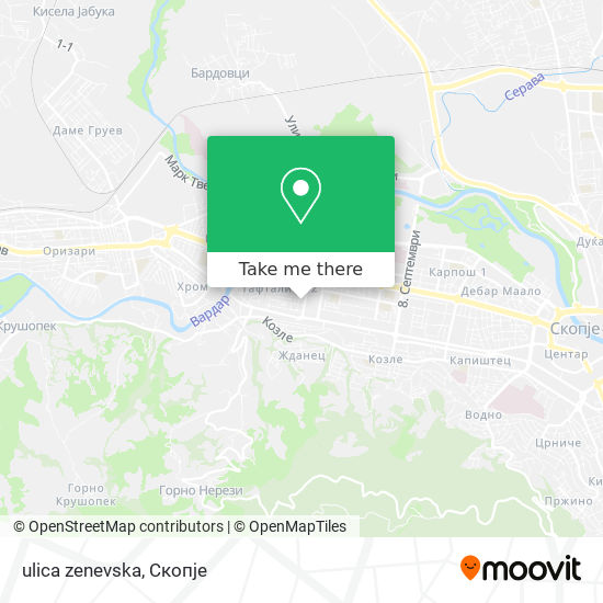 ulica zenevska map