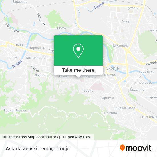 Astarta Zenski Centar map