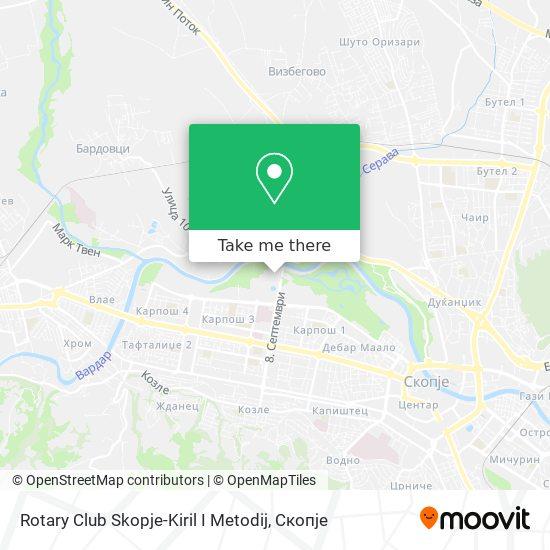 Rotary Club Skopje-Kiril I Metodij map