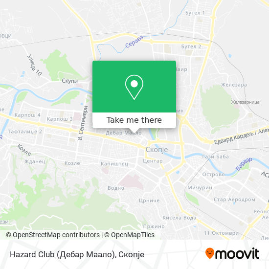 Hazard Club (Дебар Маало) map