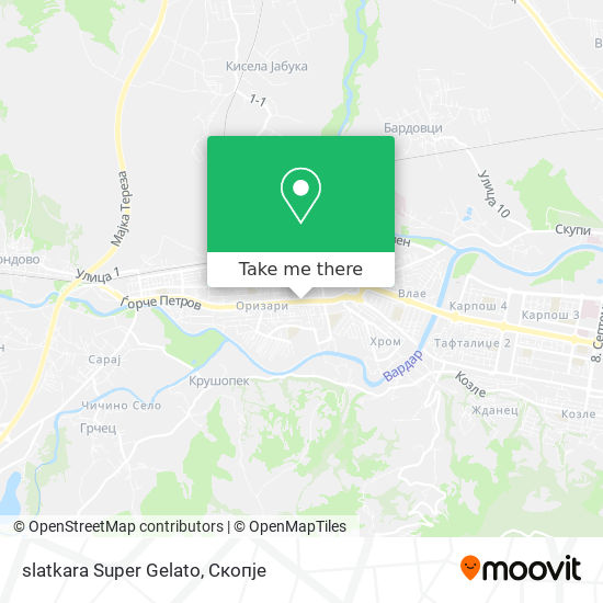 slatkara Super Gelato map
