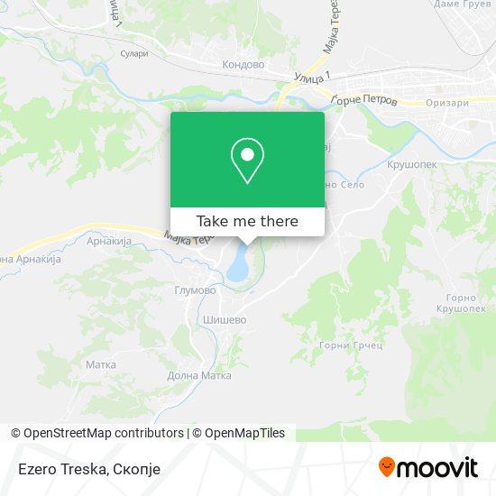 Ezero Treska map