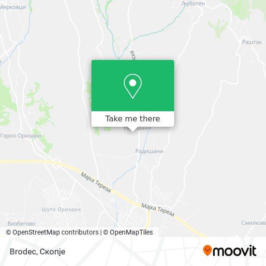 Brodec map