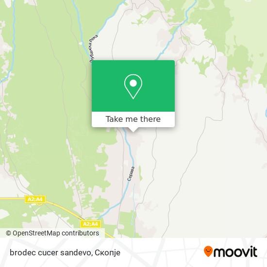 brodec cucer sandevo map