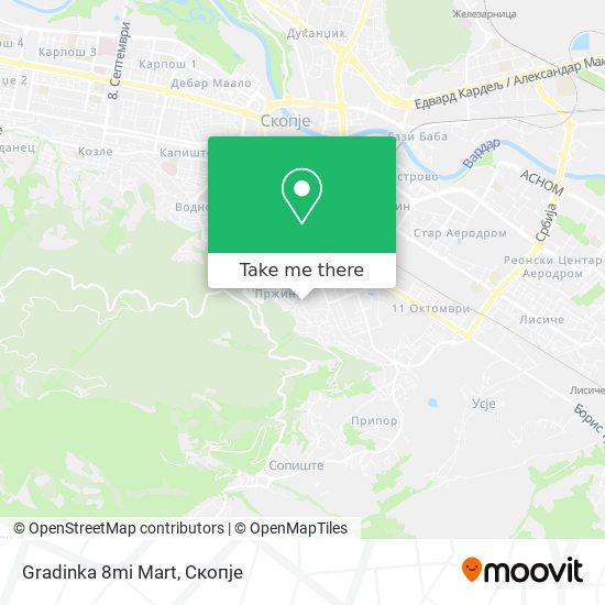 Gradinka 8mi Mart map