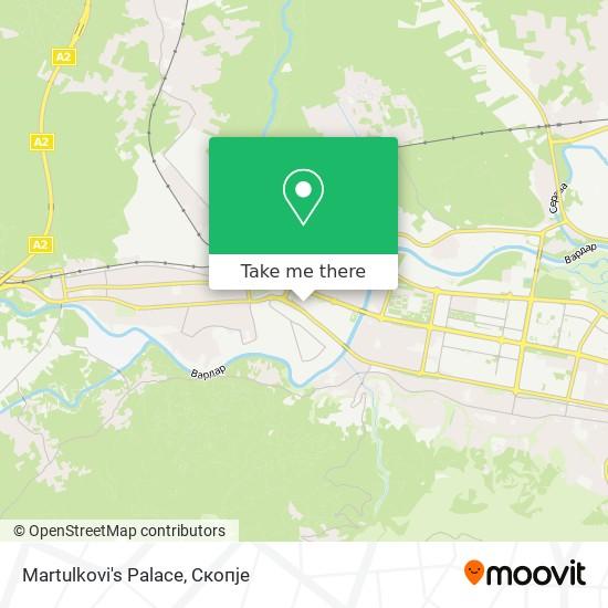 Martulkovi's Palace map