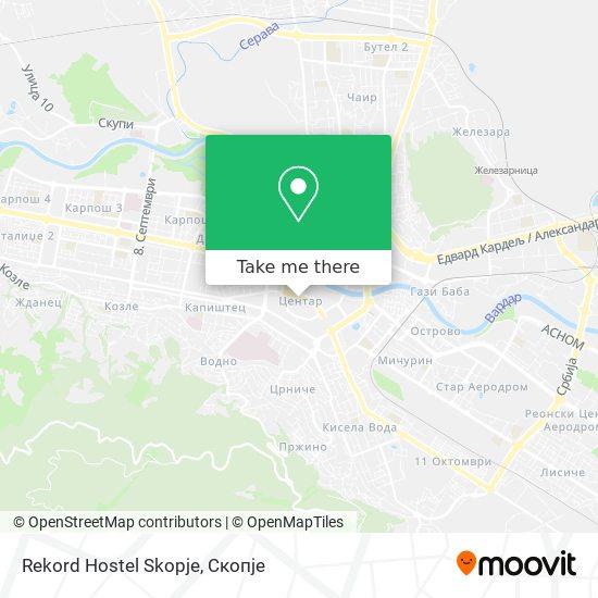 Rekord Hostel Skopje map