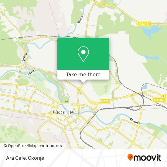 Ara Cafe map