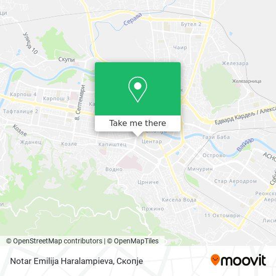Notar Emilija Haralampieva map