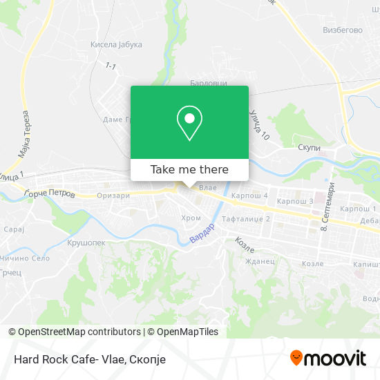 Hard Rock Cafe- Vlae map