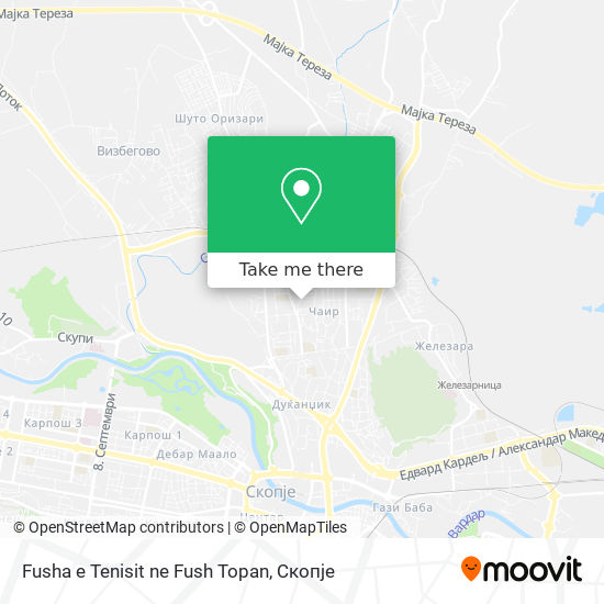 Fusha e Tenisit ne Fush Topan map