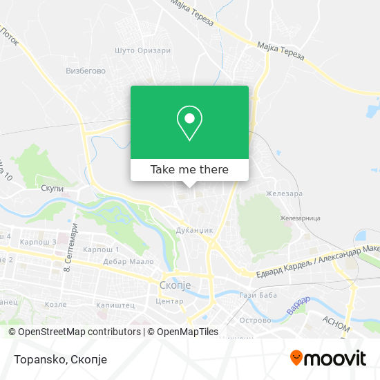 Topansko map