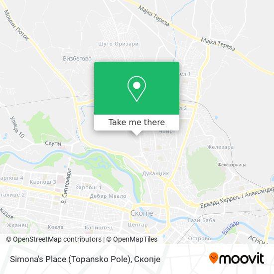Simona's Place (Topansko Pole) map