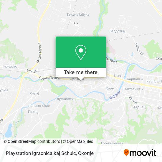 Playstation igracnica kaj Schulc map