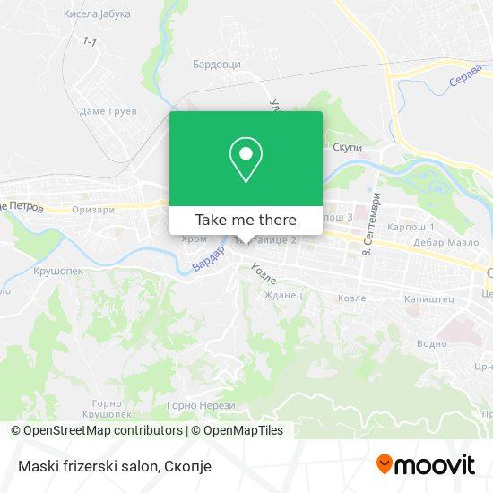 Maski frizerski salon map