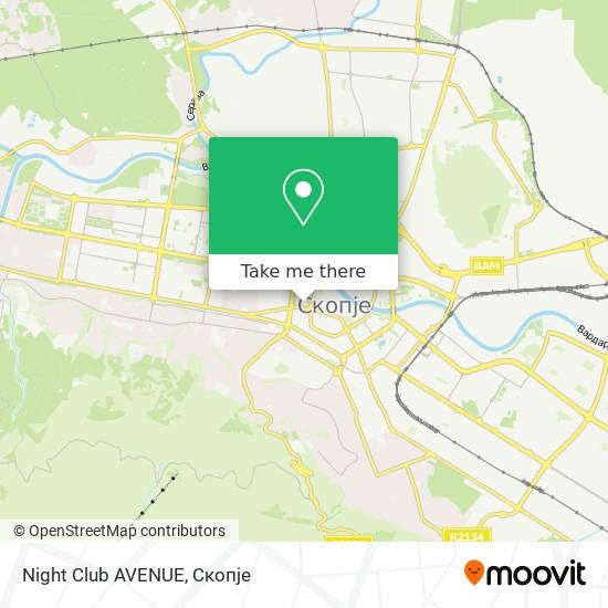 Night Club AVENUE map