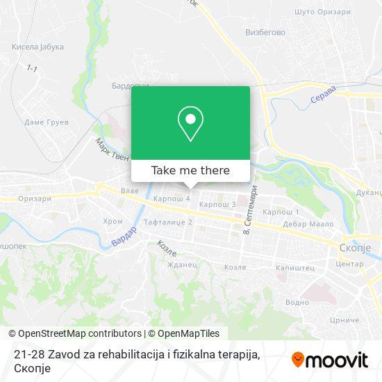 21-28 Zavod za rehabilitacija i fizikalna terapija map