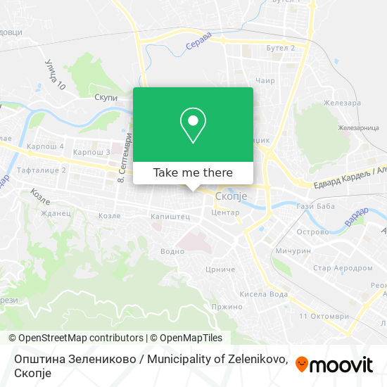 Општина Зелениково / Municipality of Zelenikovo map