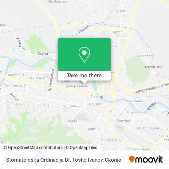 Stomatoloska Ordinacija Dr. Tosho Ivanov map