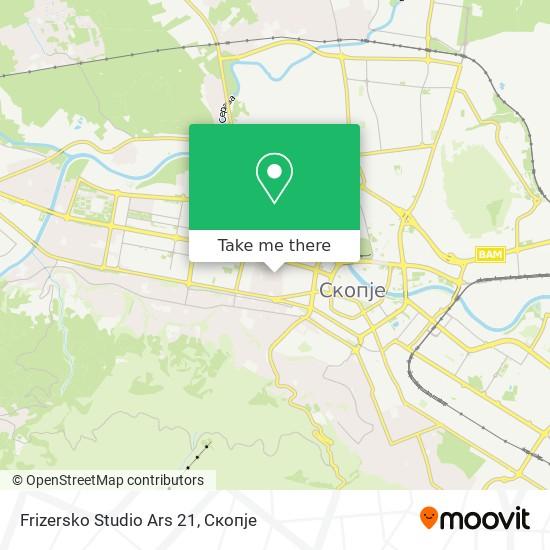 Frizersko Studio Ars 21 map
