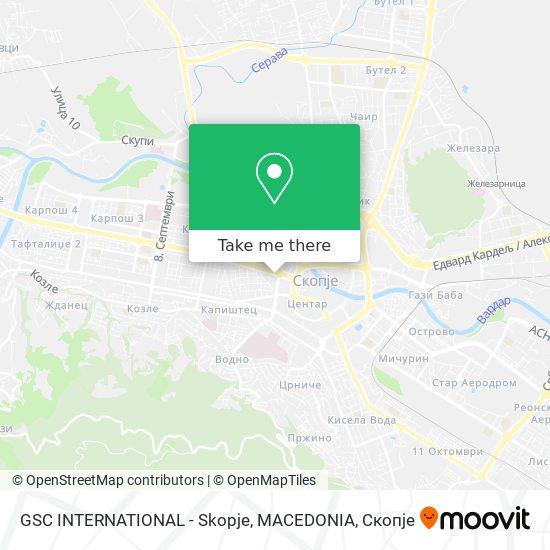 GSC INTERNATIONAL - Skopje, MACEDONIA map