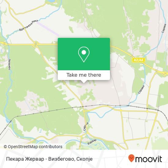 Пекара Жервар - Визбегово map